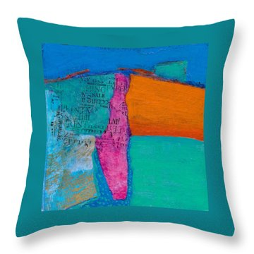 Throw Pillow featuring the mixed media Little Landscape by Catherine Redmayne