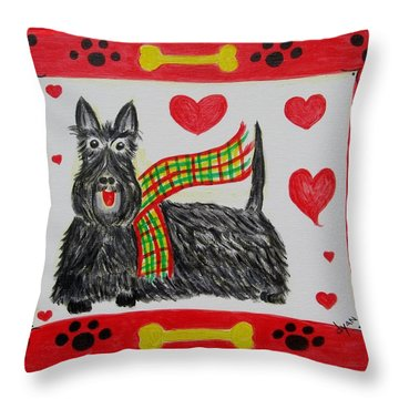 Little Lassie Throw Pillow