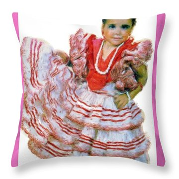 Throw Pillow featuring the painting Little Lidia by Bruce Nutting