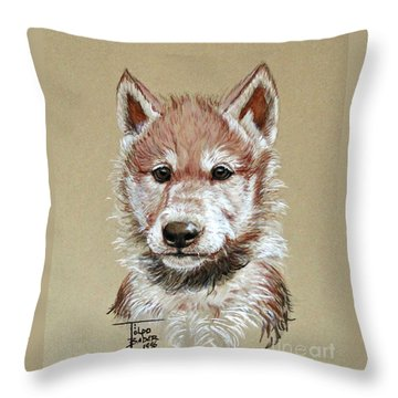 Little Lobo Throw Pillow