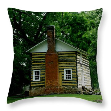 Little Log Cabin Throw Pillow by James C Thomas