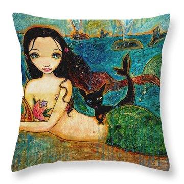 Little Mermaid Throw Pillow