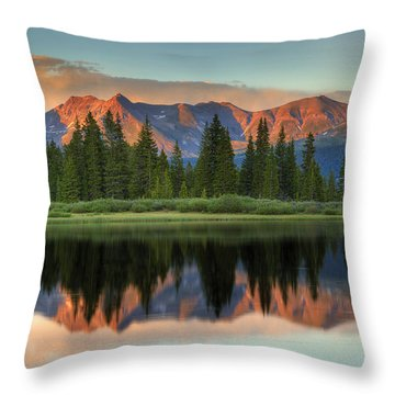 Little Molas Lake Sunset 2 Throw Pillow by Alan Vance Ley