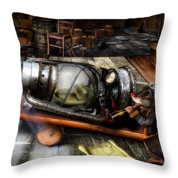 Little Mouse And The Moon Throw Pillow