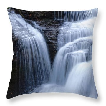Throw Pillow featuring the photograph Little Niagara by Debra Fedchin