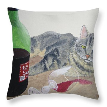 Little Ol' Wine Drinker Me Throw Pillow