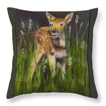 Little One Throw Pillow by Catherine Swerediuk