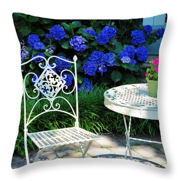 Little Patio Chair Throw Pillow