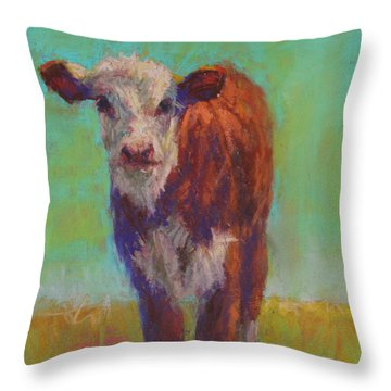 Little Penny Throw Pillow by Susan Williamson