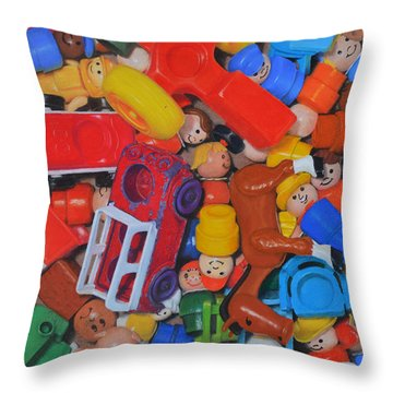 Little Peoples Throw Pillow
