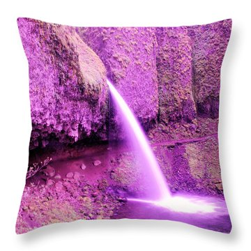 Little Pony Tail Falls  Throw Pillow by Jeff Swan