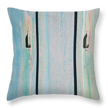 Little Pump House Door Throw Pillow by Asha Carolyn Young