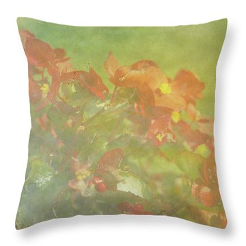 Little Red Beauties Throw Pillow