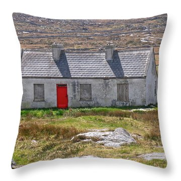 Little Red Door Throw Pillow by Suzanne Oesterling