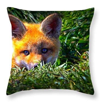 Little Red Fox Throw Pillow
