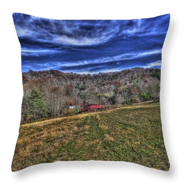 Little Red Hay Loft Throw Pillow