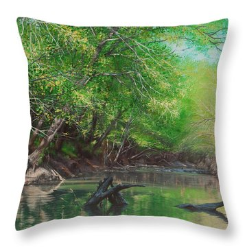 Little Red Morning Throw Pillow