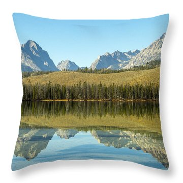 Little Redfish Lake Throw Pillow