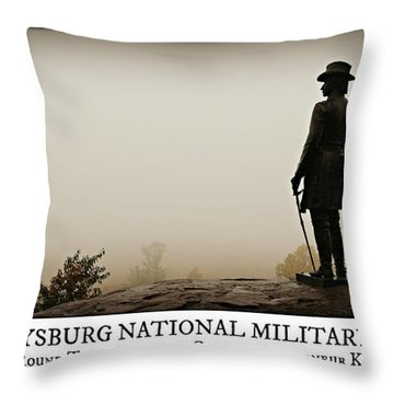 Little Round Top -- Poster Throw Pillow