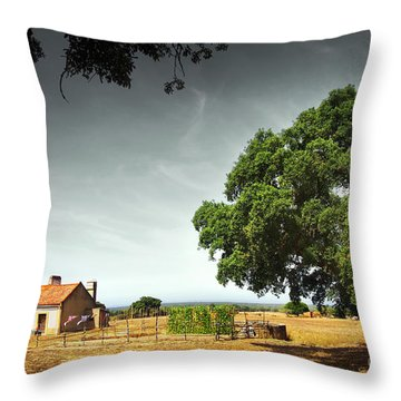 Little Rural House Throw Pillow by Carlos Caetano