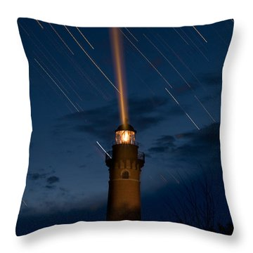 Little Sable Lighthouse Throw Pillow
