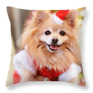 Little Santa Claus Throw Pillow by Charline Xia
