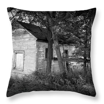 Little Shack In The Woods Throw Pillow
