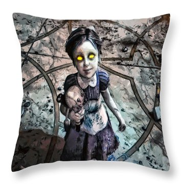 Little Sister Throw Pillow by Joe Misrasi