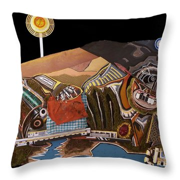A Sister In Recline Throw Pillow