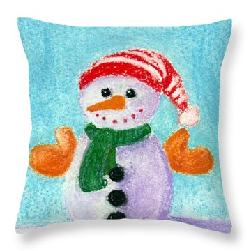 Little Snowman Throw Pillow