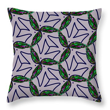 Throw Pillow featuring the digital art Little Something For The Nest by Elizabeth McTaggart