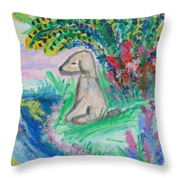 Little Sweet Pea Throw Pillow