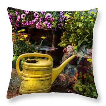 Little Swiss Garden Throw Pillow