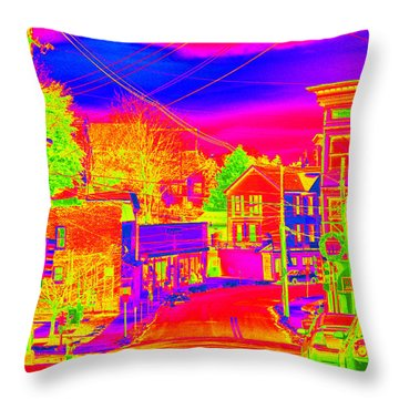 Throw Pillow featuring the photograph Little Town Come To Life by Cathy Shiflett