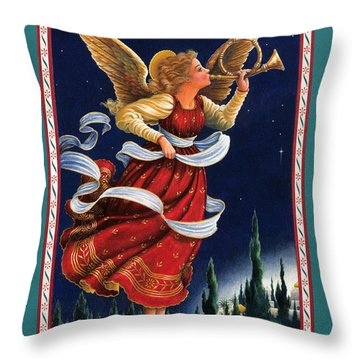 Little Town Of Bethlehem Throw Pillow by Lynn Bywaters
