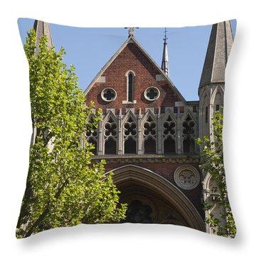 Throw Pillow featuring the photograph Little Venice Church by Maj Seda