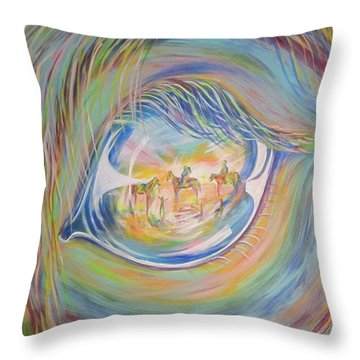 Little Warrior Throw Pillow