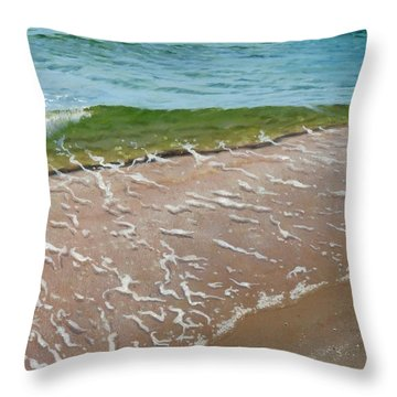Little Wave Throw Pillow