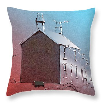 Little Welsh House Throw Pillow