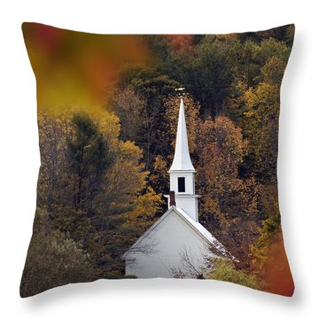 Little White Church - D007297 Throw Pillow