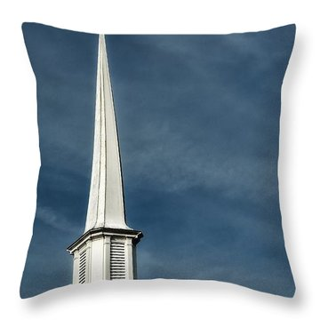 Little White Church Throw Pillow