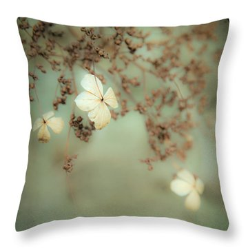 Little White Flowers - Floral - The Little Things In Life Throw Pillow