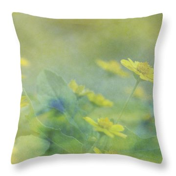 Little Yellow Beauties Throw Pillow