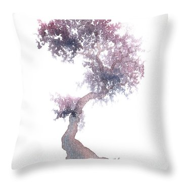 Little Zen Tree 1508 Throw Pillow by Sean Seal