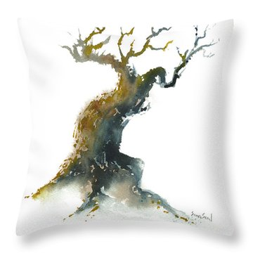 Little Zen Tree 1582 Throw Pillow