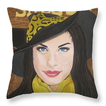 Liv Tyler Painting Throw Pillow