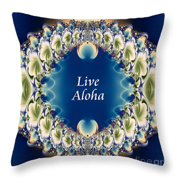 Live Aloha Throw Pillow by Renee Trenholm