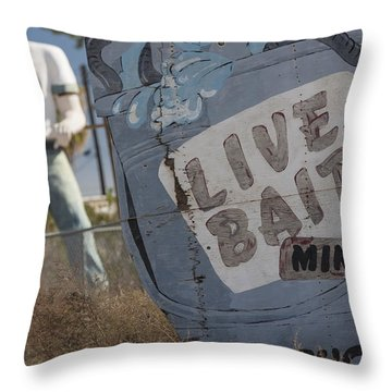 Live Bait And The Man Throw Pillow