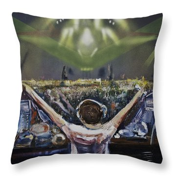 Live Dj Throw Pillow