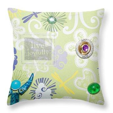 Live Joyfully Throw Pillow